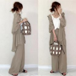 Ukawaii 一目惚れ ファッション 無地 シングルブレスト シャツ+ハイウエスト パンツ 2点セットアップ