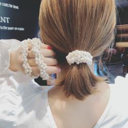 Ukawaii 憧れ 韓国風 ビーズ 髪ゴム シンプル 不規則形 ヘアゴム ins人気 髪留め アクセサリー