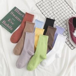 Ukawaii 大活躍5足組ファッション無地シンプル合わせやすいカジュアルレディース靴下