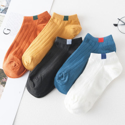 Ukawaii 韓国風ファッション合わせやすいシンプル着心地いいカジュアルソックス