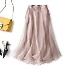 Ukawaii 柔らかくて優しい印象 気質満点 エレガント 無地 シンプル スカート