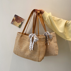 Ukawaii 合わせやすい 肩掛け 草編み スウィート 大容量 レディース バッグ