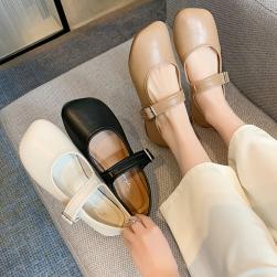 Ukawaii 可愛いデザイン ファッション シンプル キュート 抗菌防臭 ストラップ フラットヒール ウエッジソール フラットシューズ