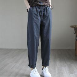 Ukawaii お買い得 定番 ファッション 無地 ハイウエスト ボウタイ カジュアルパンツ