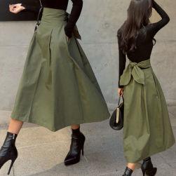 Ukawaii 雑誌等に多数掲載 リボン シンプル シンプル Aライン ハイウエスト 無地 カジュアルスカート