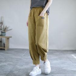 Ukawaii 品質いいな新品 シンプル ファッション ハイウエスト アンクル丈 無地 カジュアルパンツ