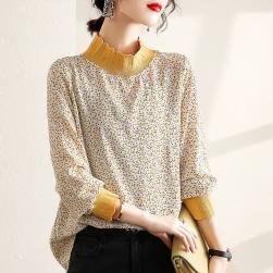 Ukawaii 美人度アップ 個性的なデザイン 着瘦せ ファッション 配色 切り替え Tシャツ