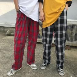 Ukawaii 元気いっぱい韓国風カジュアルチェック柄パンツ