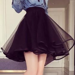 Ukawaii 清楚系可愛ファッションメッシュ膝上スカート