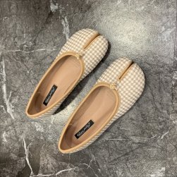 Ukawaii トレロ系 日本 足袋 履きやすい 歩きやすい レディース チェック柄 フラットシューズ