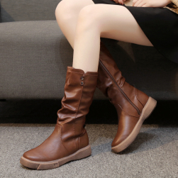 Ukawaii ヨーロピアン風 無地 レディース 合わせやすい ブーツ