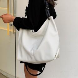 Ukawaii 合わせやすい 韓国シンプル無地肩掛けトートバッグ