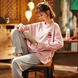 Ukawaii 憧れ 韓国風 ファッション 新作 可愛い プリント 長袖 上下セットアップ ルームウェア