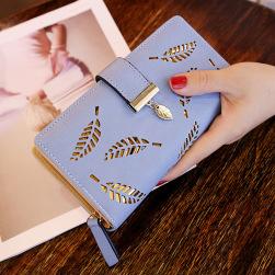 Ukawaii ファッション透かし彫りファスナー飾り手持ち財布