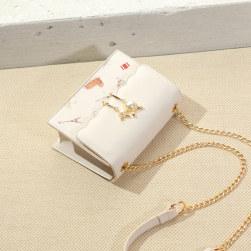 Ukawaii やっぱり優秀ファッションレトロ切り替えプリントショルダーバッグ