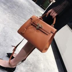 Ukawaii 売れ筋ファッションシンプルエレガント差込錠手提げショルダーバッグ