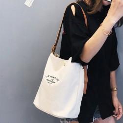 Ukawaii 個性 合わせやすい 夏 アルファベット レトロ 人気 帆布 ハンドバッグ