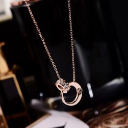 Ukawaii スウィート幾何模様チタン鋼ネックレス