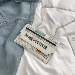 Ukawaii おすすめファッションアルファベット切り替え斜め掛けマグネットショルダーバッグ