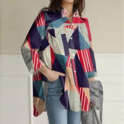 Ukawaii 着回し力抜群 エレガント 配色 折襟 シンプル ファッション カジュアルシャツ