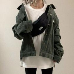 Ukawaii ファン急増中 カジュアル 合わせやすい 無地 ゆったり 長袖 ジャケット
