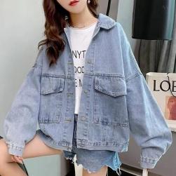 Ukawaii 個性的なデザイン ファッション シングルブレスト アルファベット 切り替え ショート丈 ジャケット