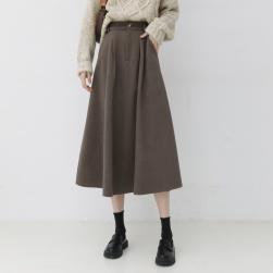 Ukawaii 早い者勝ち ファッション カジュアル ハイウエスト Aライン 無地 スカート