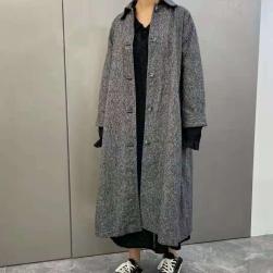 Ukawaii ファン急増中 コットン 韓国風 シンプル 3色 折り襟 膝下丈 コート