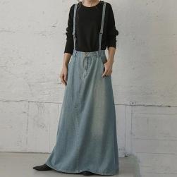 Ukawaii 可愛いデザイン 売れ筋 デニム シンプル Aライン レディース スカート
