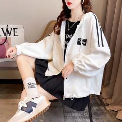 Ukawaii 学院風 韓国ファッション フード付き フード付き 長袖 レディース ジャケット