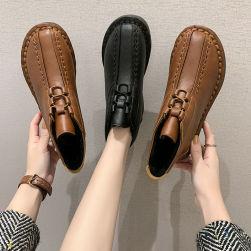 Ukawaii 一枚で視線を奪う 新作入荷 無地 カジュアル 切り替え 履き心地抜群 丸トゥ レディース ブーツ