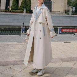 Ukawaii 一枚で視線を奪う 人気を独占中♡!ファッション 定番 シンプル シングルブレスト 配色 エレガント トレンチコート