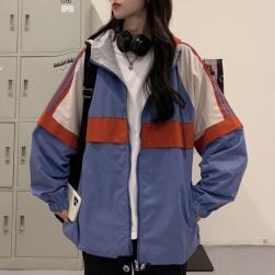 Ukawaii リバーシブル ファッション 韓国風 配色 フード付き 長袖 合わせやすい ジャケット
