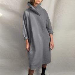 Ukawaii 上品さたっぷり 秋冬 ファッション 無地 フード付き ゆったり 裏起毛付き ワンピース