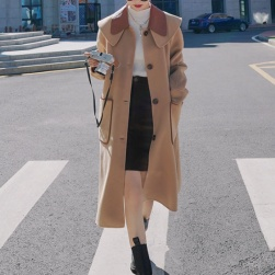 Ukawaii 一枚で視線を奪う 保温性良い 折り襟 長袖 レディース コート