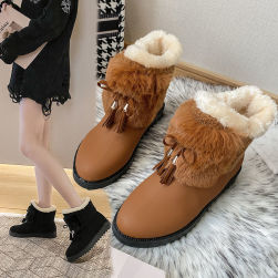 Ukawaii 22.5-25cm 合わせやすい おしゃれ 裏起毛付き 保温 無地 3色 ショート丈ブーツ