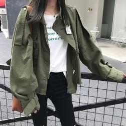 Ukawaii デザイン性抜群 カジュアル 切り替え 長袖 無地 ショート丈 レディース ジャケット