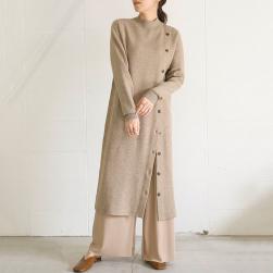 Ukawaii 上品なシルエット 韓国風 ファッション ゆったり デザイン性 ニット 合わせやすい ワンピース