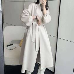 Ukawaii 着回し力抜群 シンプル ボタン ベルト付き 折襟 長袖 コート