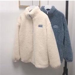 Ukawaii 一枚で視線を奪う 韓国系 定番 ファッション長袖 秋冬 ハーフネック ジッパー カーディガン