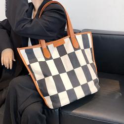 Ukawaii 気質アップ カジュアル 肩掛け 帆布 配色 切り替え ショルダーバッグ