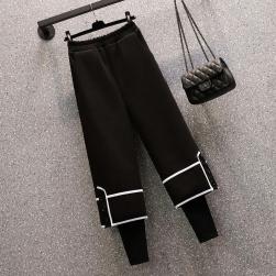 Ukawaii ブーツ相性抜群 オシャレ 偽二枚 ラシャ カジュアルパンツ