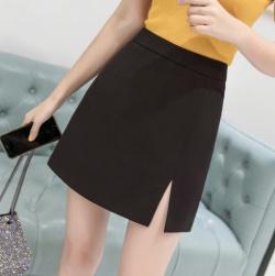Ukawaii 韓国系ハイウエスト側スリットキャッパススリム着やせ気質スカート
