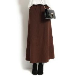 Ukawaii 着瘦せ 暖かい ハイウエスト ロング フェミニン エレガント Aライン スカート