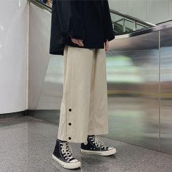Ukawaii おすすめ 無地 シンプル ゆったり 九分丈 ガウチョ カジュアル パンツ