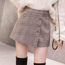 Ukawaii ファッションハイウエストチェック柄ショートパンツ